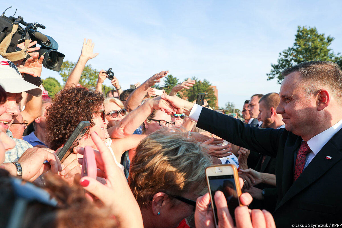 Spotkanie prezydenta Andrzeja Dudy z Polonią w New Britain w USA