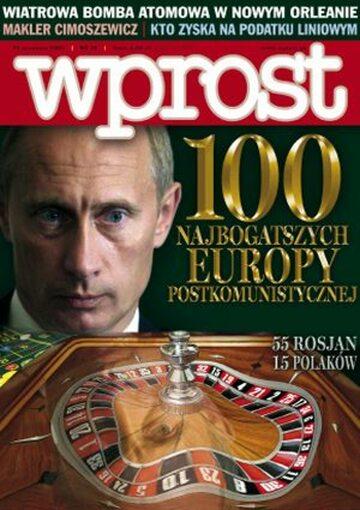 Okładka tygodnika Wprost nr 36/2005 (1188)