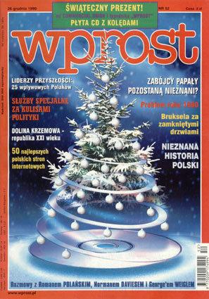Okładka tygodnika Wprost nr 52/1999 (891)