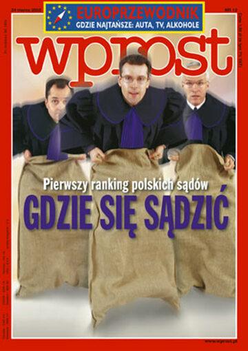 Okładka tygodnika Wprost nr 12/2002 (1008)
