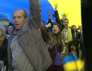 W Doniecku demonstrują proukraińscy mieszkańcy