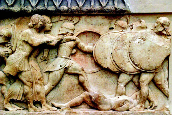 12 września 490 p.n.e. Bitwa pod Maratonem. Najważniejsza bitwa pierwszej   wilekiej inwazji perskiej na Grecję. (fot.militaryhistory.org/domena publiczna)