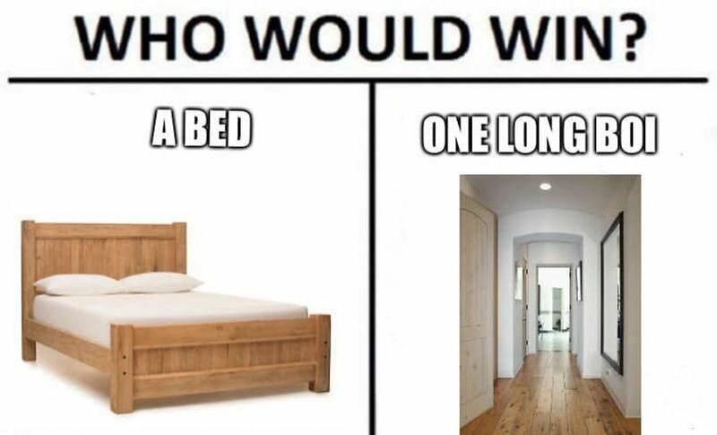 Kto wygra: łóżko, czy jeden długi koleś?
