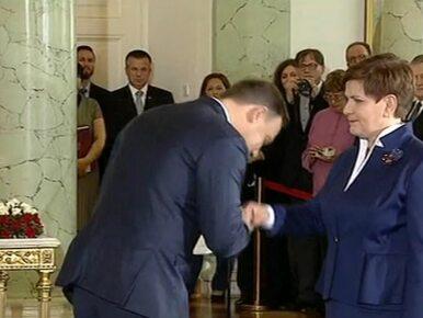 """Rząd Beaty Szydło zaprzysiężony. """"Dziękuję, że rząd jest tak szybko"""""""
