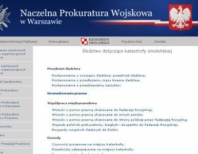 Prokuratura wojskowa uruchomiła stronę internetową o Smoleńsku