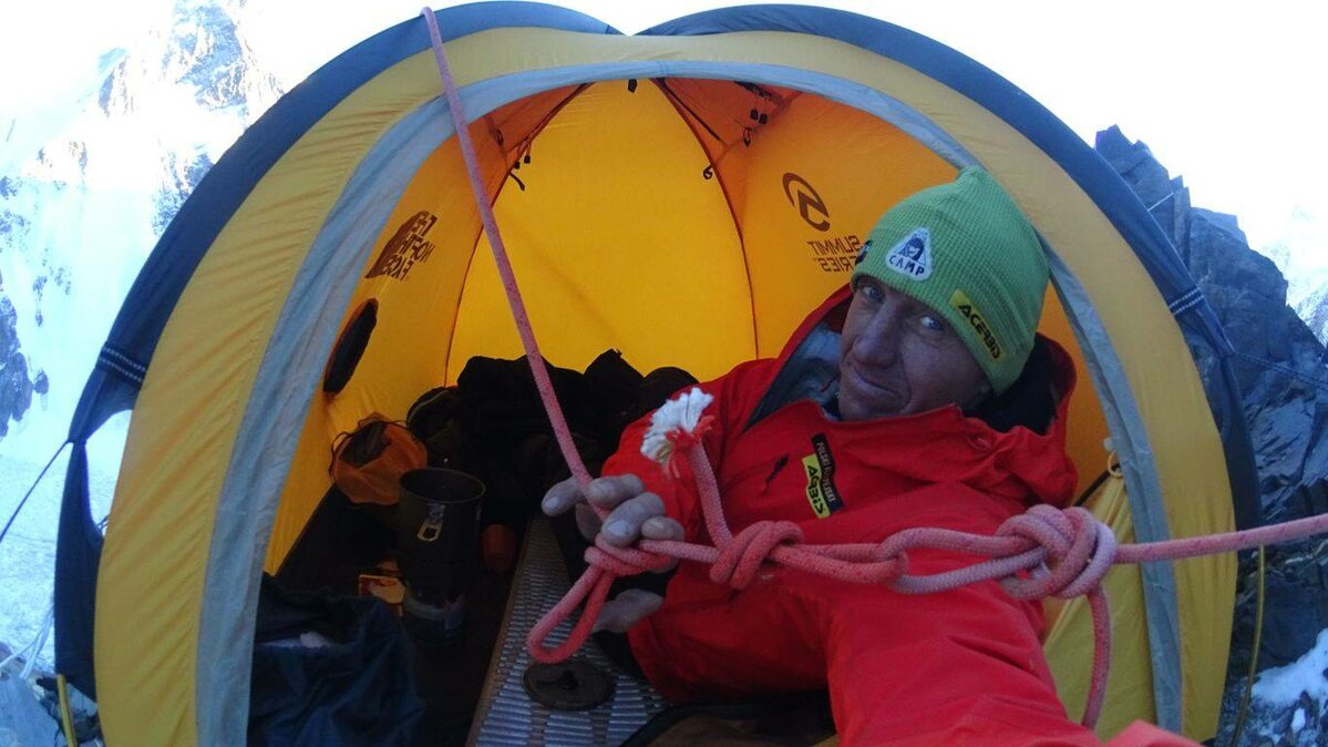 Denis Urubko podczas wyprawy na K2