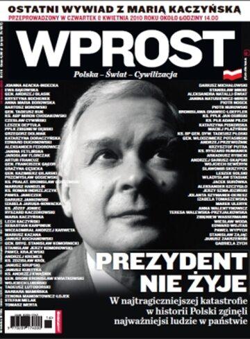 Okładka tygodnika Wprost nr 16/2010 (1419)