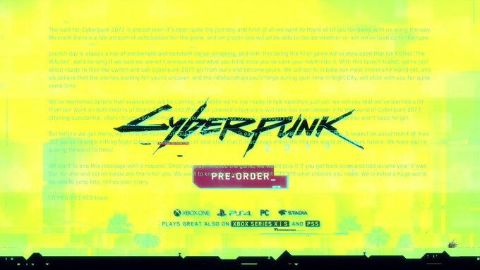 Ukryta wiadomość wzwiastunie Cyberpunka 2077