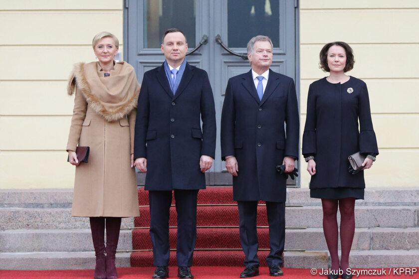 Ceremonia oficjalnego powitania Prezydenta RP Andrzeja Dudy i Małżonki przez Prezydenta RF Sauli Väinämö Niinistö i Małżonkę