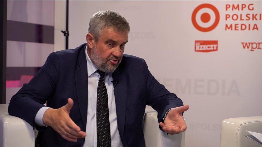 Jan Krzysztof Ardanowski - Minister Rolnictwa i Rozwoju Wsi w strefie PMPG Polskie Media na Forum Ekonomicznym w Krynicy