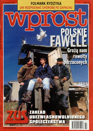 Okładka tygodnika Wprost nr 14/2001 (958)