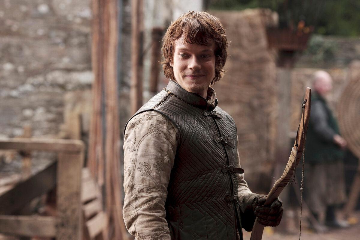 """Theon Greyjoy w 1. sezonie """"Gry o tron"""" W postać tę wciela się Alfie Allen."""