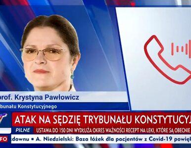 """Atak na Pawłowicz? Sędzia TK opisała wszystko TVP Info. """"Młodzi ludzie,..."""