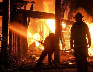 Wielki pożar opuszczonego magazynu w Detroit