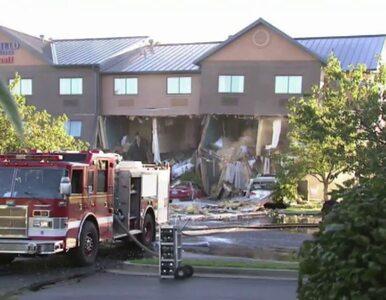 Samochód uderzył w hotel. Doszło do eksplozji