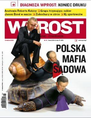 Okładka tygodnika Wprost nr 14/2009 (1369)