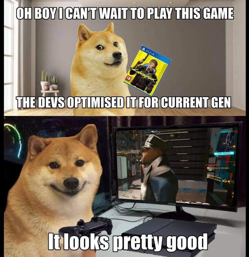 Cyberpunk 2077. Mem po nieudanej premierze gry na konsolach