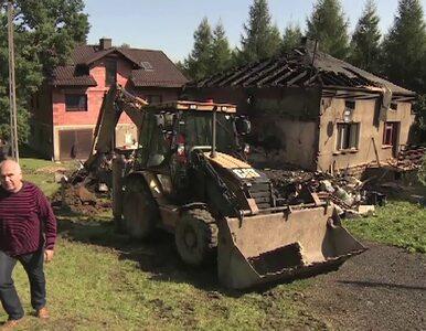 Pożar w domu jednorodzinnym. Jedna osoba trafiła do szpitala