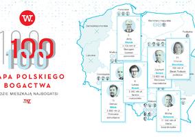 Powstała mapa polskiego bogactwa. Gdzie żyją najbogatsi ludzie w Polsce