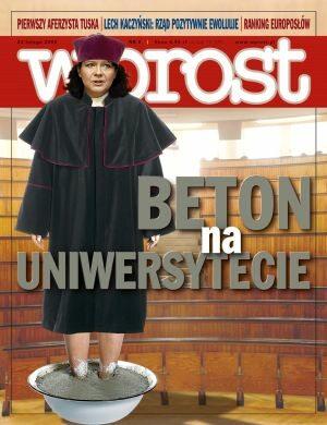 Okładka tygodnika Wprost nr 8/2008 (1313)