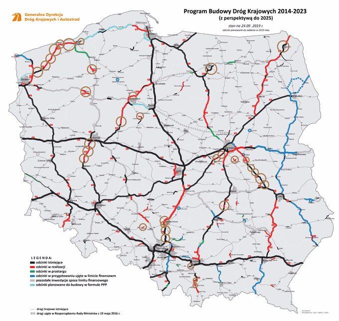 Polskie drogi w2019 roku