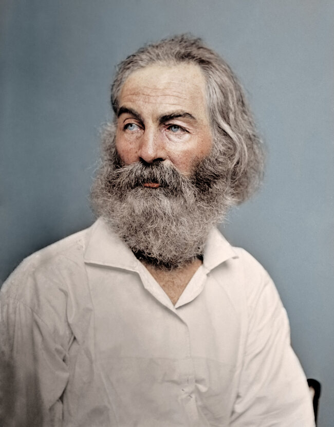 Amerykański poeta Walt Whitman, 1868