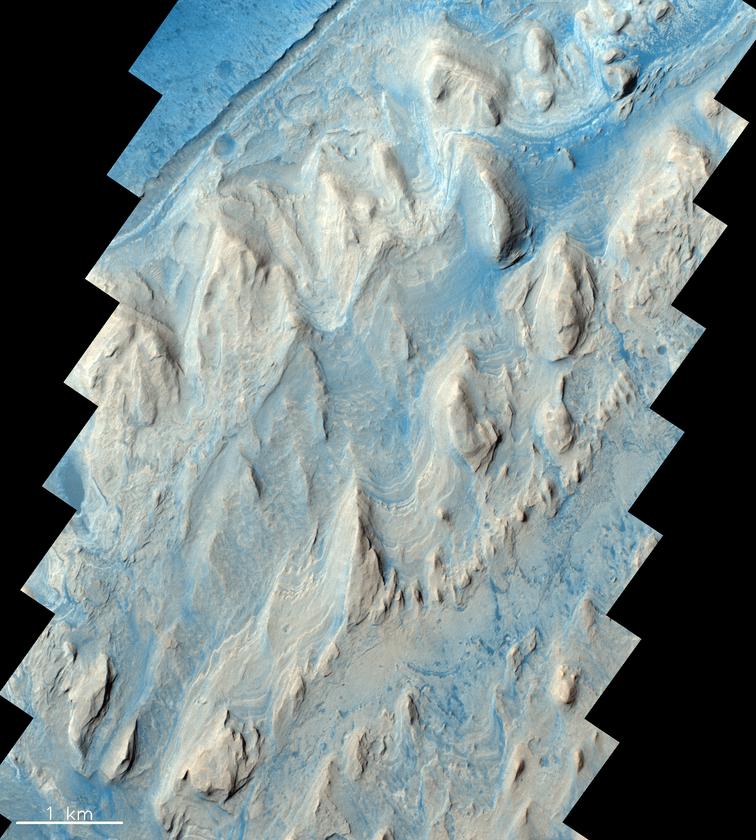 Warstwy krateru Gale