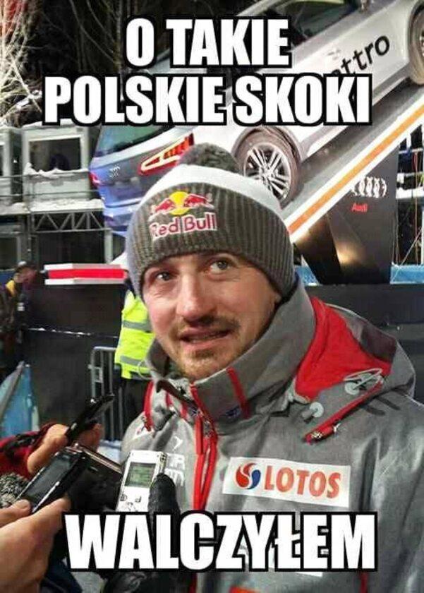 Mem po zdobyciu mistrzostwa świata przez Piotra Żyłę