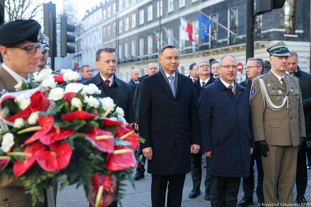 Andrzej Duda podczas wizyty w Londynie