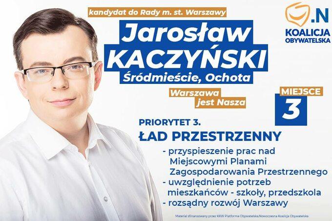 Plakat wyborczy Jarosława Kaczyńskiego