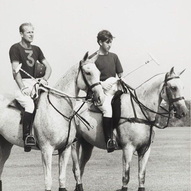 Książę Filip w trakcie gry w polo