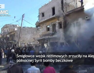 Naloty bombowe na Aleppo w Syrii. Zginęło około 90 osób