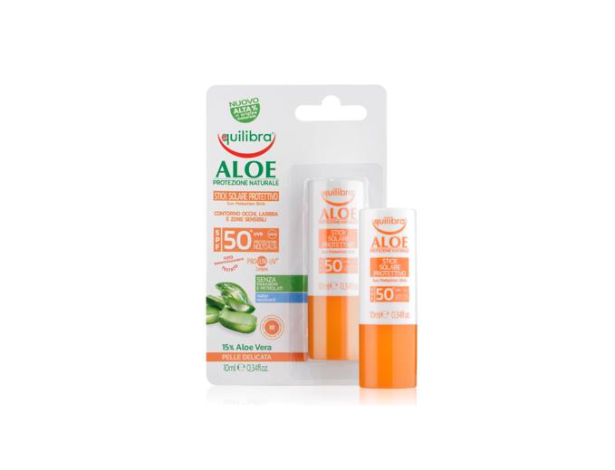 Aloesowy sztyft przeciwsłoneczny SPF 50+ UVA, UVB 10 ml Equilibra