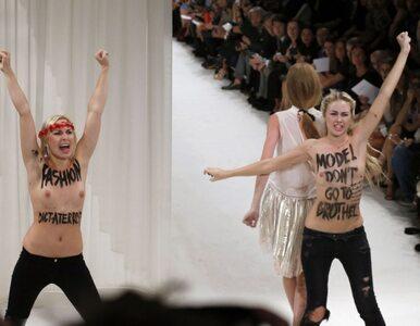 Nagie piersi na pokazie mody. FEMEN w akcji