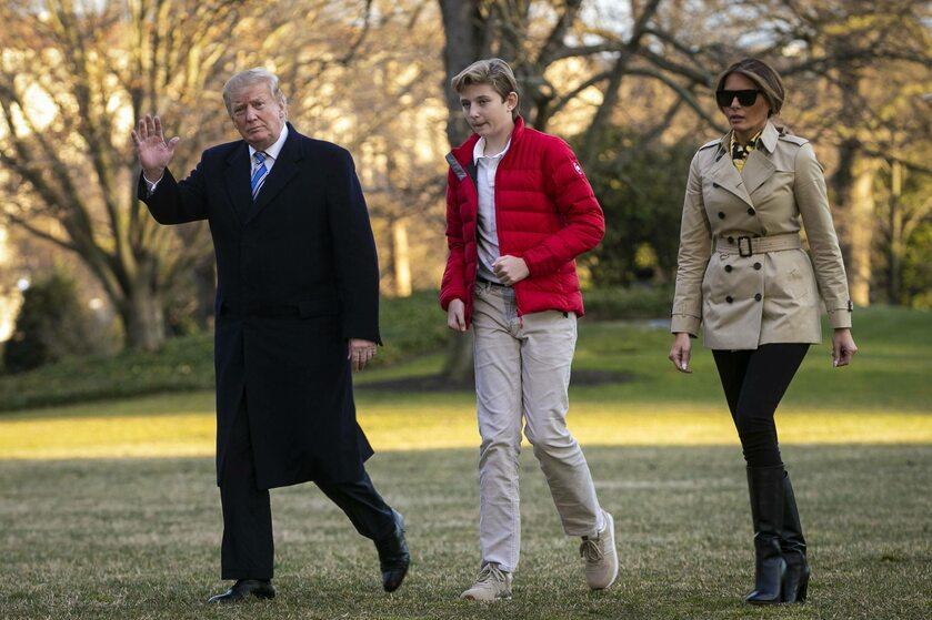 Donald Trump, Melania Trump i ich syn Barron Trump