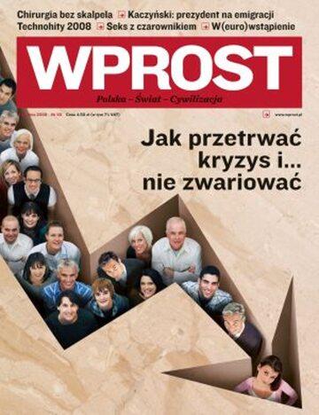 Okładka tygodnika Wprost nr 50/2008 (1355)