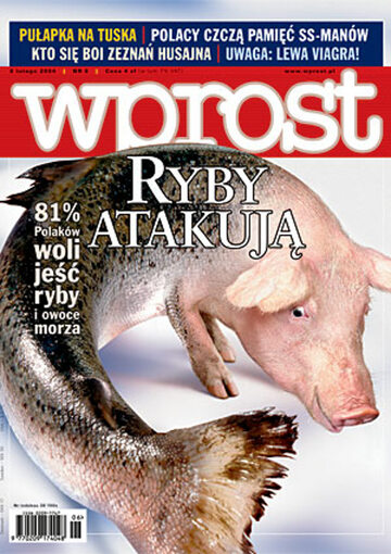 Okładka tygodnika Wprost nr 6/2004 (1106)