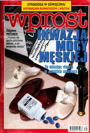 Okładka tygodnika Wprost nr 39/1998 (826)