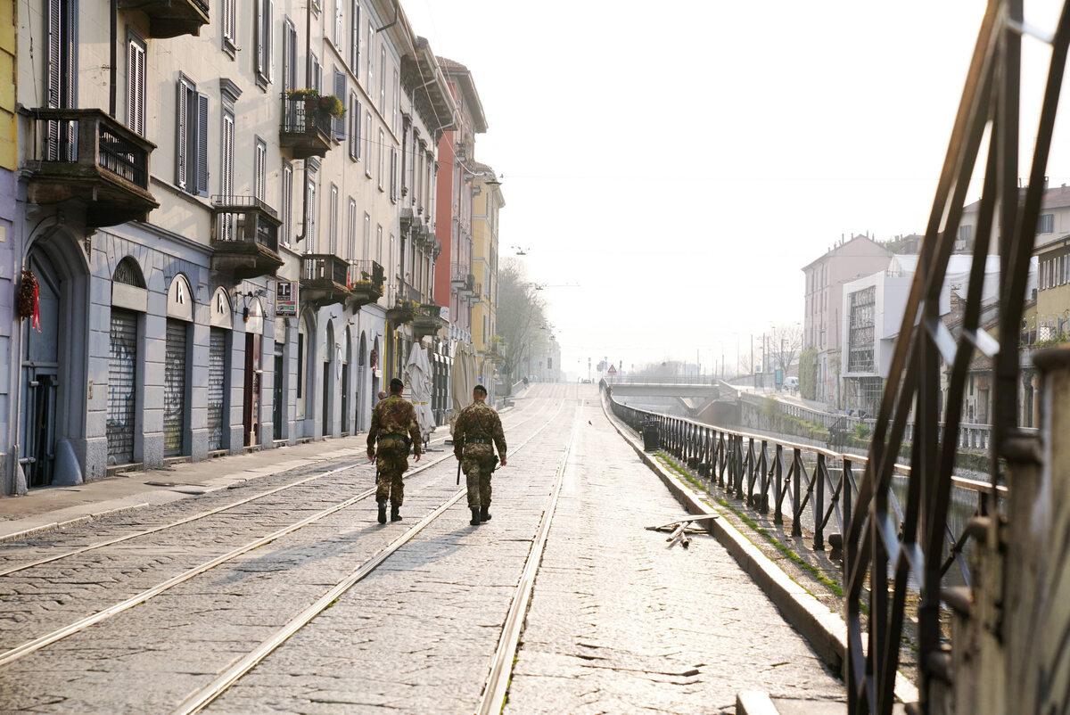 Wojskowy patrol w Mediolanie (20 marca)