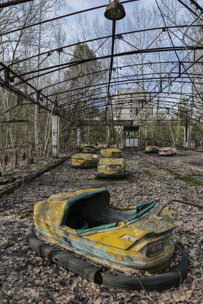 Jedno zopuszczonych miejsc wokolicach Czarnobyla