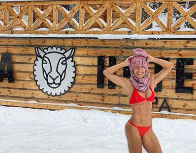 """Ewa Chodakowska w bikini na śniegu. Wzięła udział w akcji """"Postaw suty w..."""