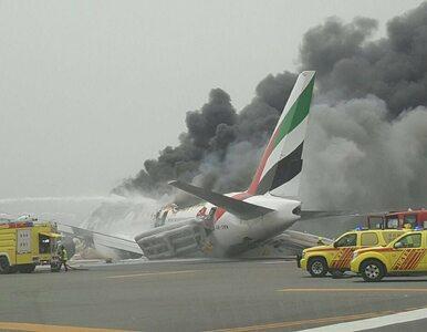 Samolot linii lotniczych Emirates po lądowaniu w Dubaju stanął w...