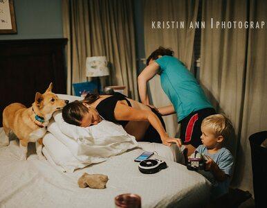 Na poród w domu zaprosiła fotografa. Nie sądziła, że bohaterem sesji...