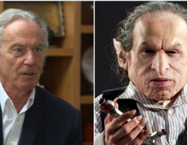 Internauci żartują z nowej fryzury Tony'go Blaira. Powstały...
