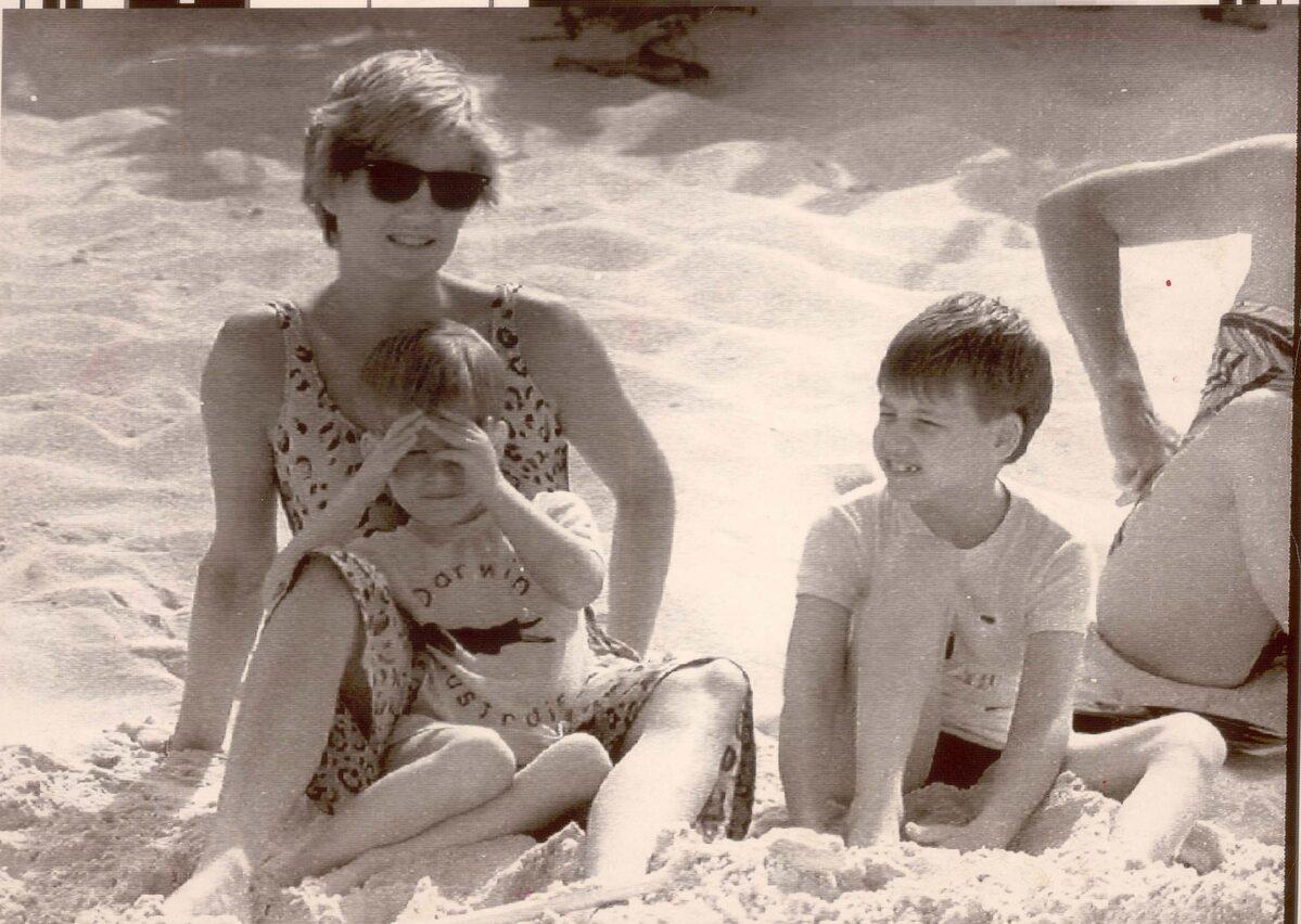 Księżna Diana na wakacjach z synami w 1990 roku
