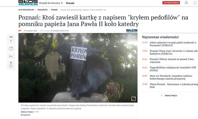 Zdjęcie pomnika Jana Pawła II