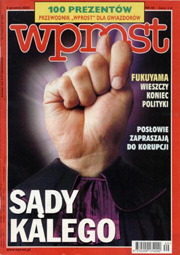 Okładka tygodnika Wprost nr 49/2000 (940)