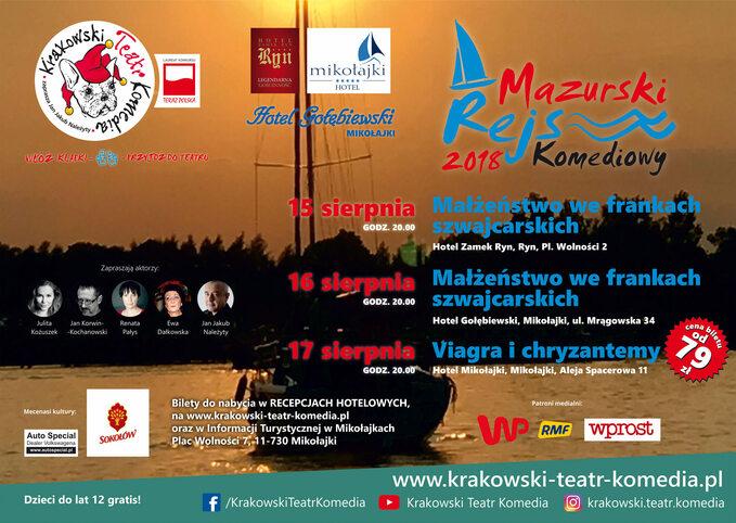 Mazurski Rejs Komediowy 2018 -plakat