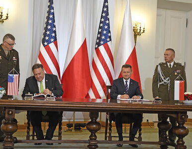 """Błaszczak i Pompeo podpisali porozumienie. """"Żołnierze USA i Polski będą..."""