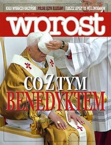 Okładka tygodnika Wprost nr 15/2008 (1320)
